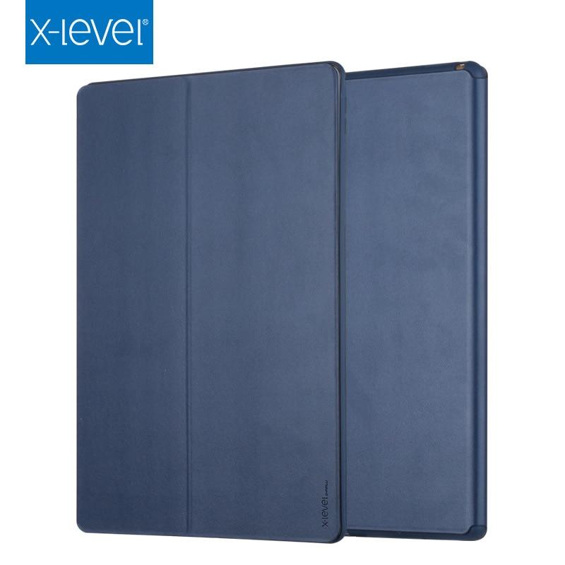 Cases para Apple X-level Livro Couro Flip Novo Ipad ar 3 10.5 Ultra Fino Negócios Funda Capa Case 2020