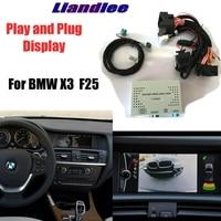 Liandlee kamera parkowania adapter interfejsu tylna zestawy do BMW X3 F25 CCC CIC NBT EVO model specjalny wyświetlacz aktualizacji w Kamery pojazdowe od Samochody i motocykle na