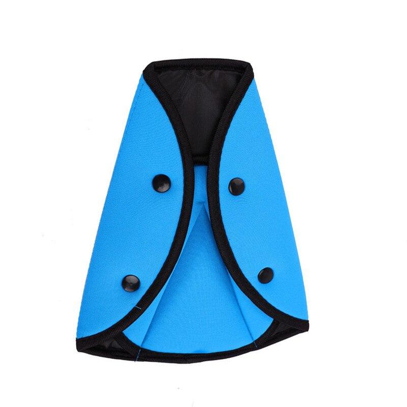 Защитный автомобильный ремень безопасности для маленьких детей, треугольный держатель, защитный чехол для детского сиденья, регулятор, полезная защита для детей - Цвет: Синий