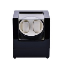 2018 Fashion Wooden Watch Winder Black Automatic Self Watch Winders Quanlity Watch Storage Box New Wood