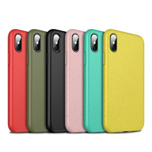 Wheat straw mixed TPU Phone Case For iPhone XS Max XR X 8 7 Plus Soft Anti-knock Shock-proof Cover Frosted Anti-fingerprint Case все цены