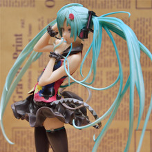 Japanese Anime Doll 21cm Hatsune Miku action figures 1/8 Scale PVC Figure  Sex Toy  Racing MIKU deroction model girls gift