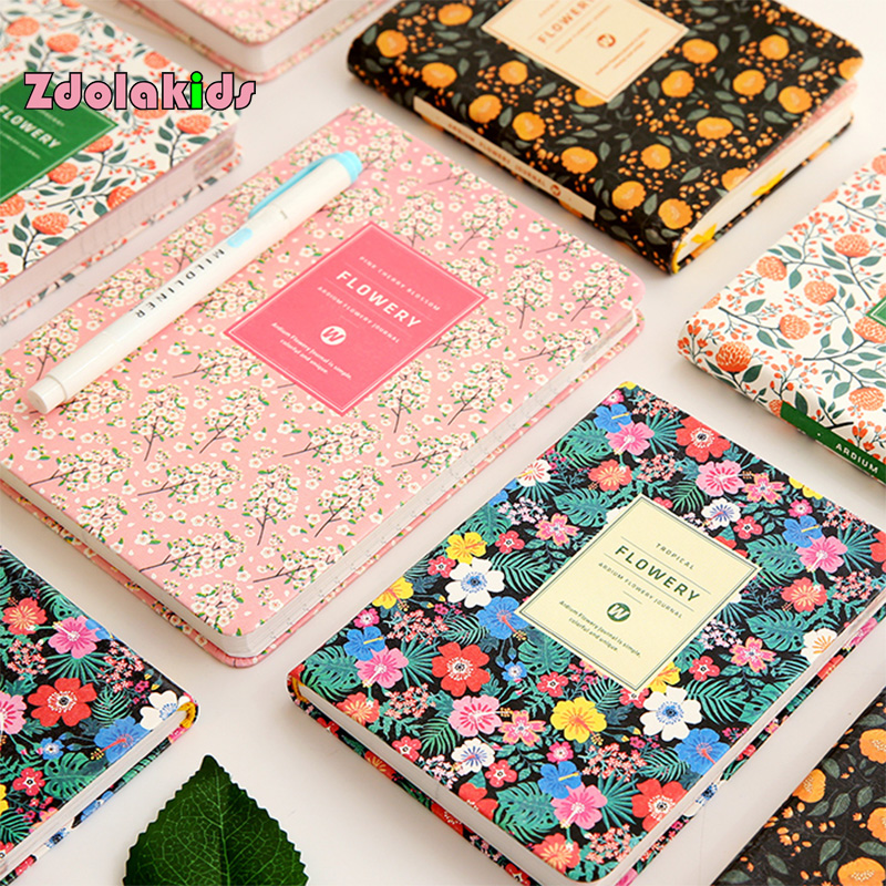 New Arrival Cute PU Leather Floral Flower Schedule Book Diary Weekly Planner Notebook School Office Supplies Kawaii Stationery fashion business pu leather a5 notebook portable black red book travel journal planner diary stationery office & school supplies