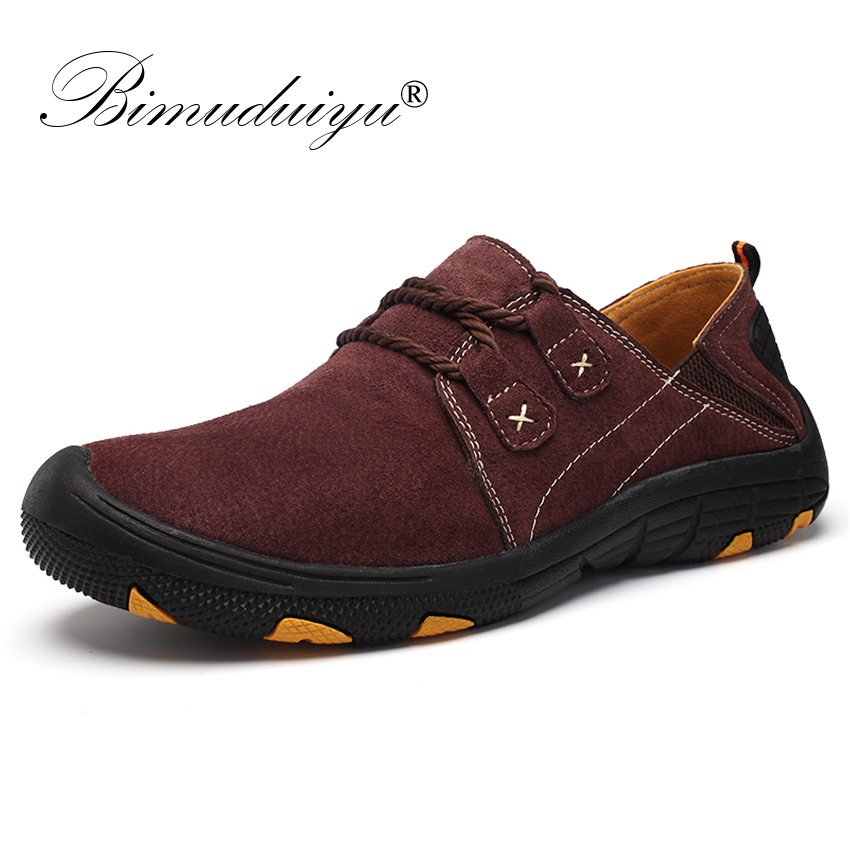 BIMUDUIYU Big Size 39 48 Men Casual Shoes leather Sneakers Designer Shoes For Men Breathable Male