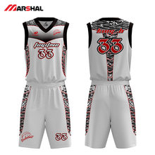 Customized team youth fabric material basketball jerseys breathable delivery man uniform logo design on line(China)