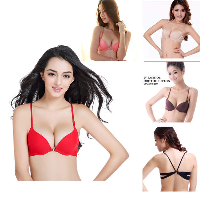 88452898d7 placeholder Yenlice AB cup Sexy Women push up Bra Front Closure The Back  Y-line Straps