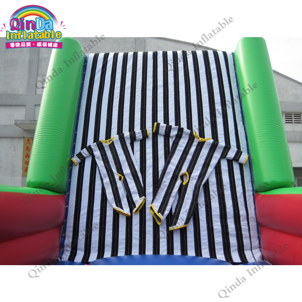 0.55mm pvc inflatable bouncer jumping bed outdoor playing games inflatable sticky wall for kids and adult0.55mm pvc inflatable bouncer jumping bed outdoor playing games inflatable sticky wall for kids and adult