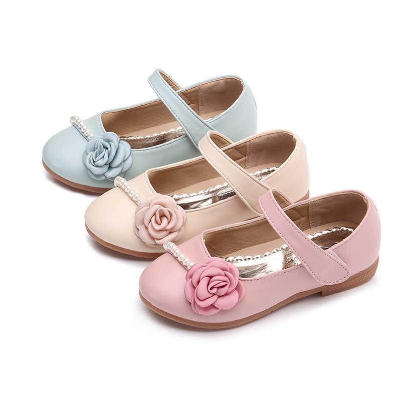 Bekamille เด็กรองเท้าหนังฤดูใบไม้ร่วงรองเท้าเด็กสำหรับสาวเจ้าหญิงดอกไม้ Pearl รองเท้าแฟชั่นนุ่มด้านล่างรองเท้าผ้าใบ SSJ009