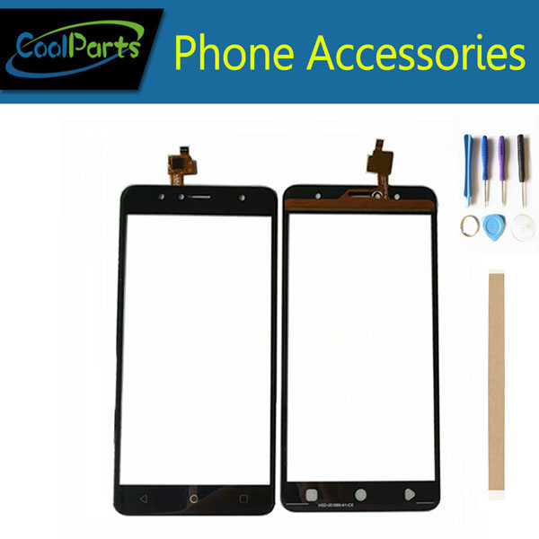 1PC/Lot High Quality For Vertex Impress Baccara Versions Touch Screen Digitizer Touch Panel Lens Glass Black Color+Tape&Tool