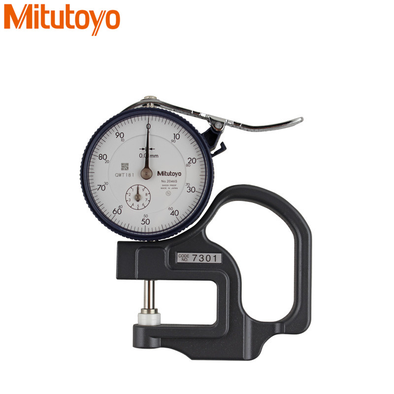 Mitutoyo Dial Thickness Gages 0-10mm/0.01 Shock Proof 7301 Dial Test Indicators Dial Gauge Flat Anvil Measure Tools mitutoyo dial thickness gages 0 10mm 0 01 shock proof 7301 dial test indicators dial gauge flat anvil measure tools