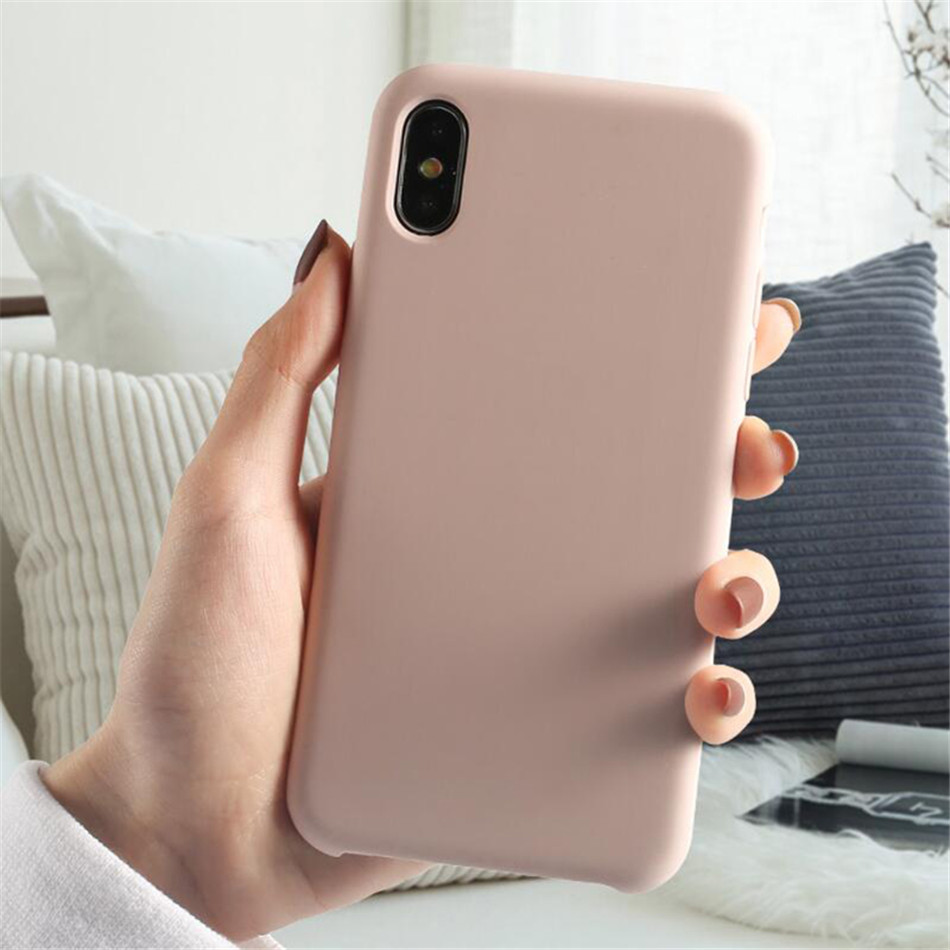 Original Silicone Case on iPhone 7 8 6 6S Plus X 5s 09