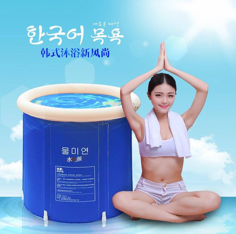 SPA Inflatable Bath Tub Adults Folding Tub Bath Bucket