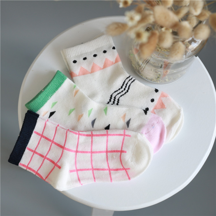 Hot Sale Kids Socks Lovely Cake Design 4 10 Year Children Socks