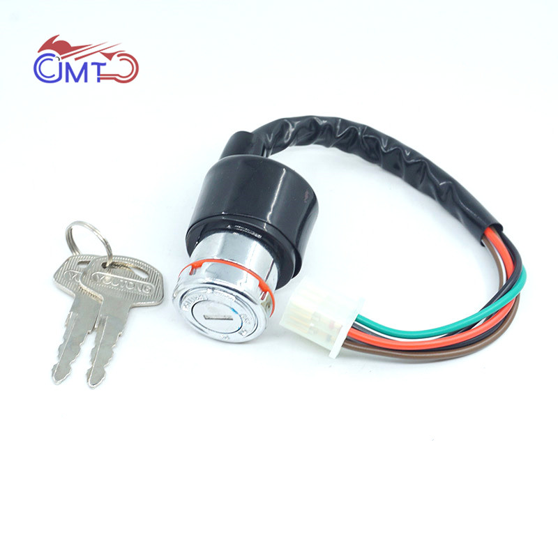Motorcycle Ignition Switch Assy Lock With Keys For Suzuki GN125 6 Wire