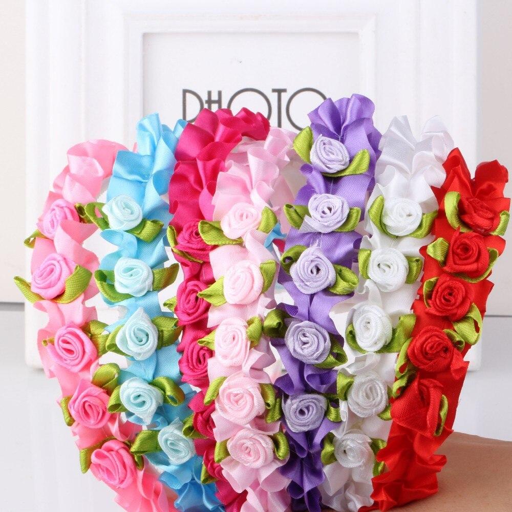 Aliexpress Buy M Mism Fashion Cute Ribbon Floral Headband Hair