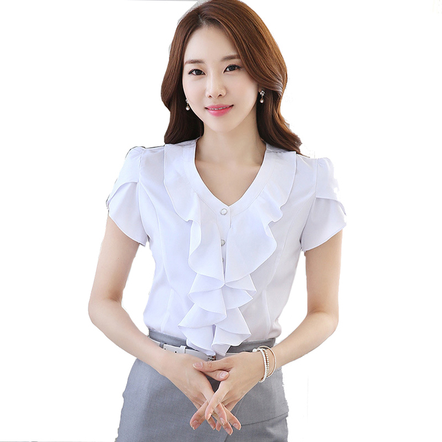 Women'S Short Sleeve Blouses For Work | Fashion Ql