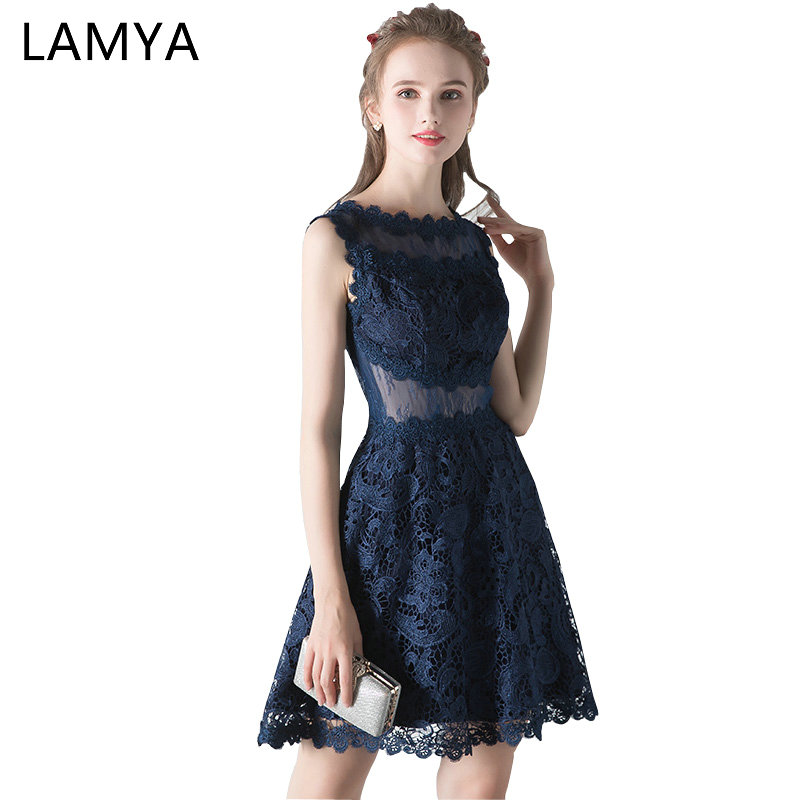 Lamya Cut Out A Line Lace   Prom     Dresses   2019 Romatic Evening Party   Dress   Form Women Short Special Occasion   Dress   Gown
