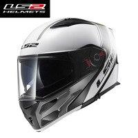 NEW LS2 Flip Up Motorcycle Helmet FF324 Full Face Racing Motorbike Helmet Double Sun Visor Modular