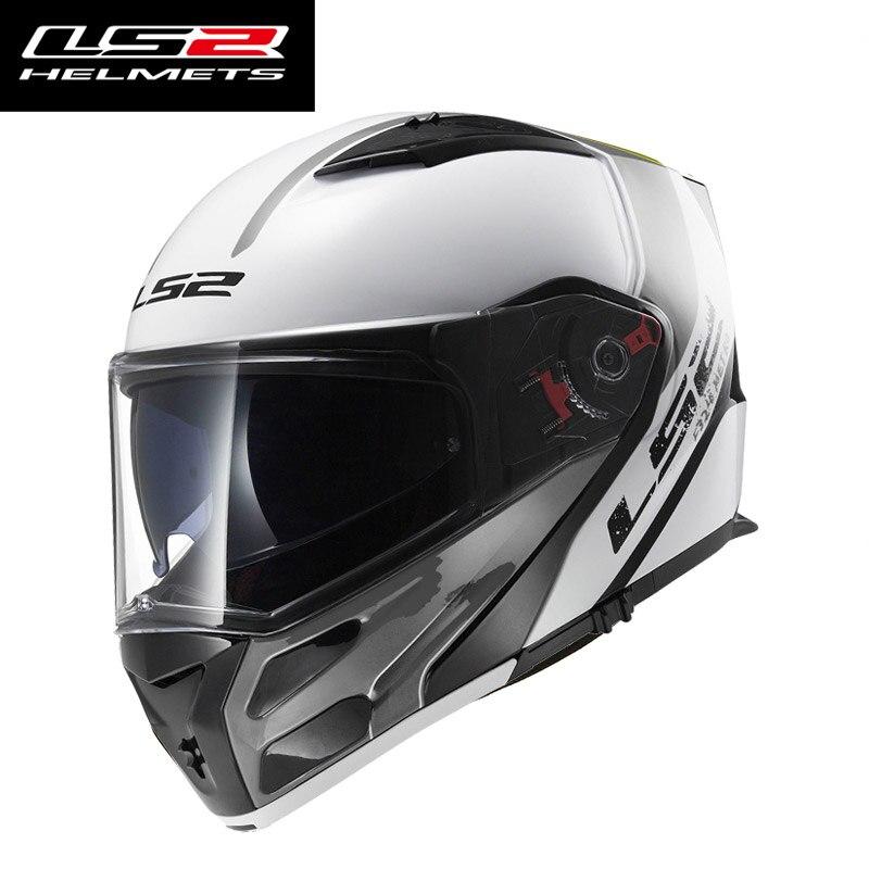 NUOVO LS2 flip-up moto rcycle casco FF324 del fronte pieno moto casco da corsa moto rbike casco doppia visiera di sun modulare ECE taglia L XL XXL