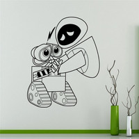 Wall Decal Wall E And Eve Cartoons Robots Vinyl Sticker Home Decor Ideas Interior Removable Kids