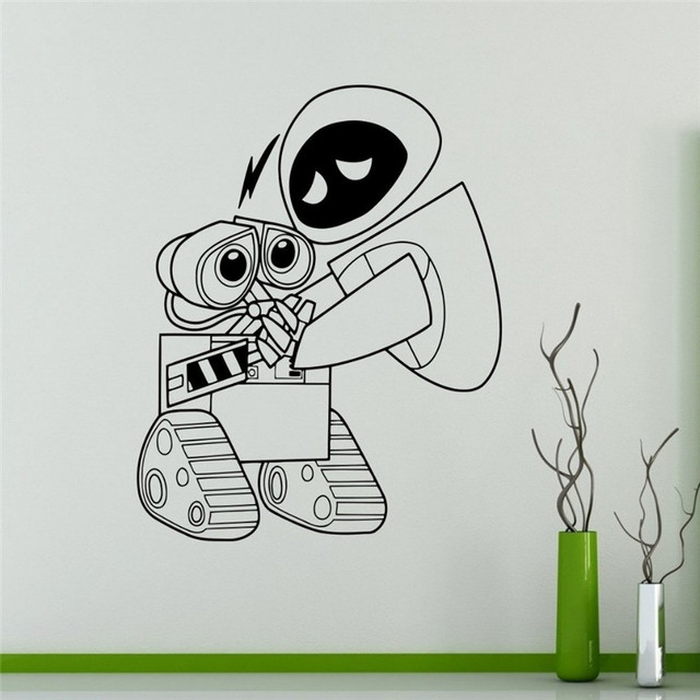 Wall Decal Wall-e and Eve Cartoons Robots Vinyl Sticker Home Decor Ideas Interior Removable  sc 1 st  AliExpress.com & Wall Decal Wall e and Eve Cartoons Robots Vinyl Sticker Home Decor ...