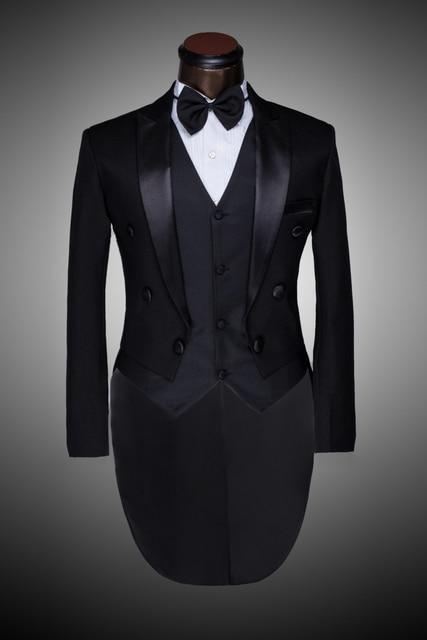 Homme costume homme marié Prom 2015 hommes smoking noir et blanc costumes  de mariage pour les 1dad3ef8501