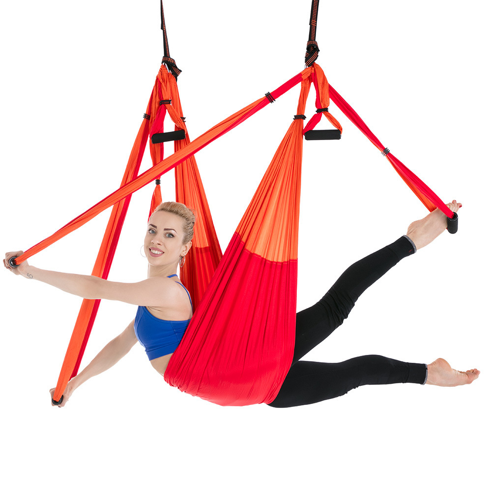 Nylon Taffeta Yoga Hammock Anti-Gravity Aerial High Strength Swing Hamac Hanging Chair Fitness Inversion Belts Can Be Hold 200Kg