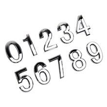 Современный адрес двери Серебряная Табличка номер дом отель стикер с цифрами табличка знак