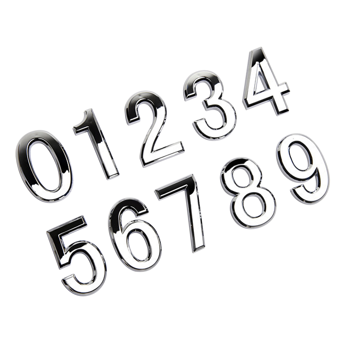 cc1a4a9cc7c9 Modern Door Address Silver Plaque Number House Hotel Digits Sticker Plate  Sign