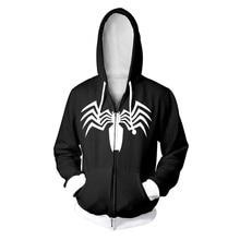 Marvel Spider Man 3D Moving Zipper Hoodies Men Streetwear Hip Hop Warm Hooded Sweatshirts Printed for Kids Boy Winter Soldier