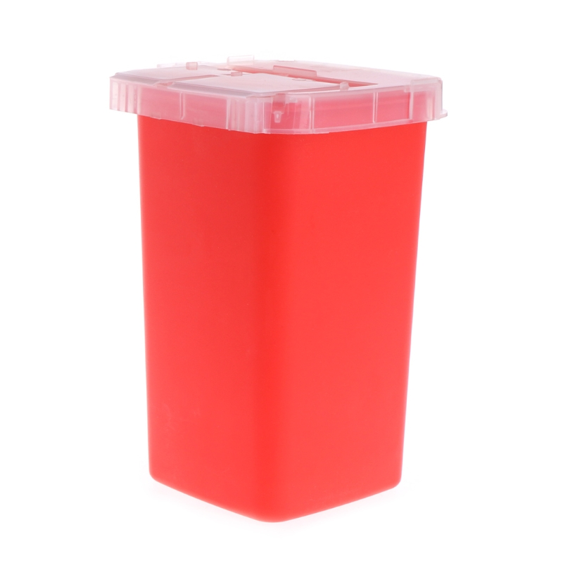 Image 2 - 1pc 1L Tattoo Medical Red Plastic Sharps Containers for Tattoo Artists Newest Tattoo Sharps Container Needle Disposal Tools-in Tattoo accesories from Beauty & Health