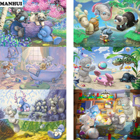 5D DIY Diamond Painting Embroidery Parabola Bear Series Diamond Painting Painting Home Children S Room Decoration