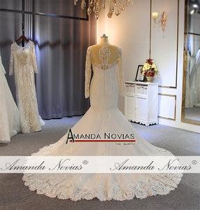 Image 5 - חתונה אלגנטית שמלה עם שרוולים ארוכים בת ים כלה שמלת כלה שמלת 2019