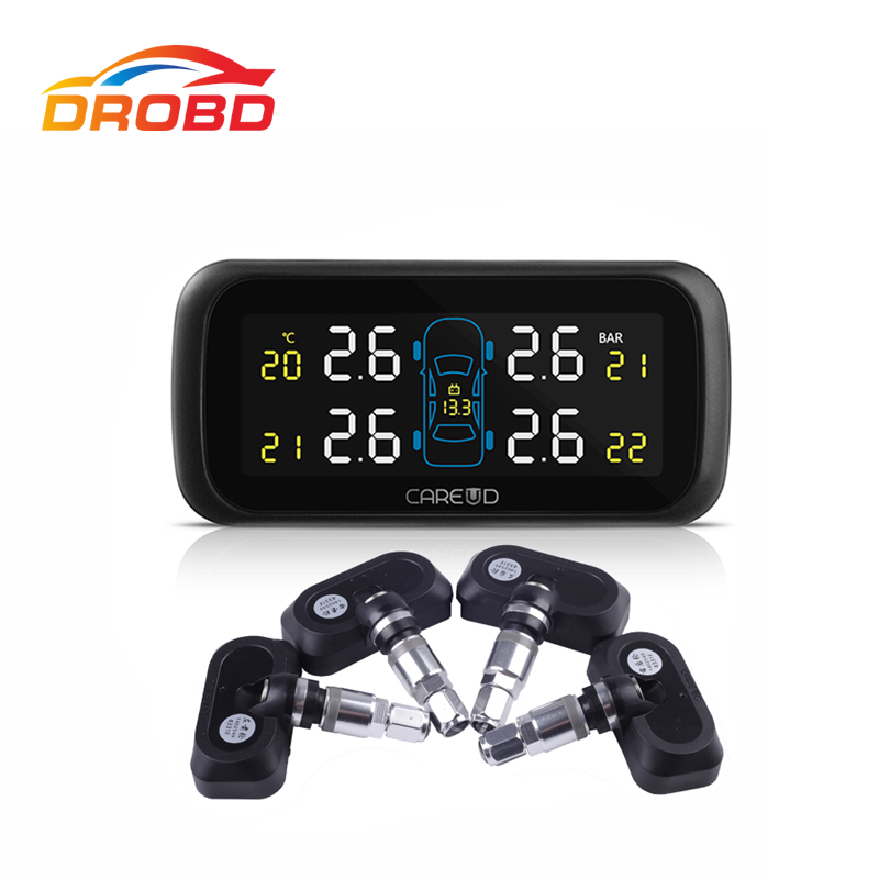 Auto Diagnostic-Tool Careud U903 4 Internal Sensors Tyre Pressure Monitoring System Car TPMS PSI/BAR LCD Display tpms auto car wireless tire pressure monitoring system with 4 internal sensors diagnostic tool automobiles pershn l2 nf
