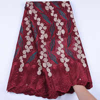 High Quality Swiss Voile Lace Fabric In Switzerland Latest Cotton Lace Fabric African Dry Lace Fabric For Nigerian Wedding F1612