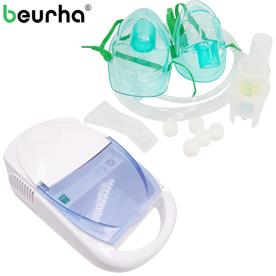 Beurha Inhaler FDA Compressor Nebulizer Allergy Relief Respiratory Medicine Medicine Aerosol Children Adult Medication Therapy