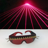 Bar Club Red Laser Light Party Glasses Man Women Ballroom Dance Costumes Singer Stage Glasses Glowing Wears