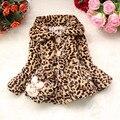 Anlencool Бренда девушки пальто для зима книга лязг лязг Медведь Дети Корейский меха леопарда пальто детская пальто вес девочек куртка