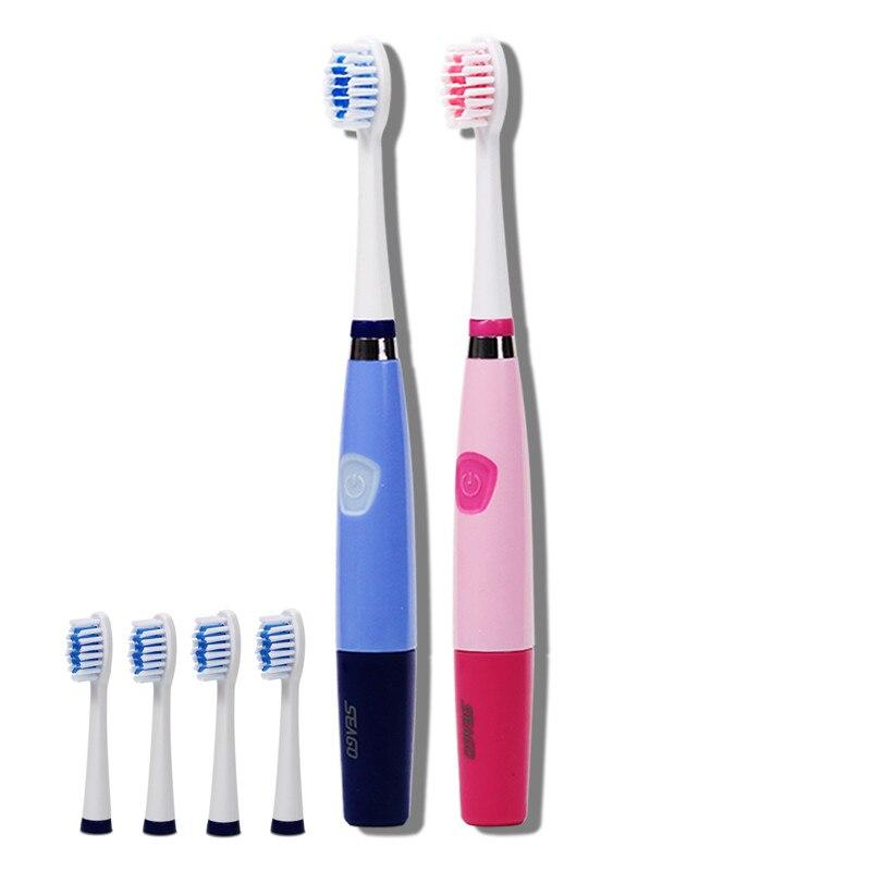 5 bürstenköpfe Mundhygiene Ultraschall Sonic Elektrische zahnbürste für erwachsene 23000 micro-pinsel pro minute Seago SG-915 ABS/TBE
