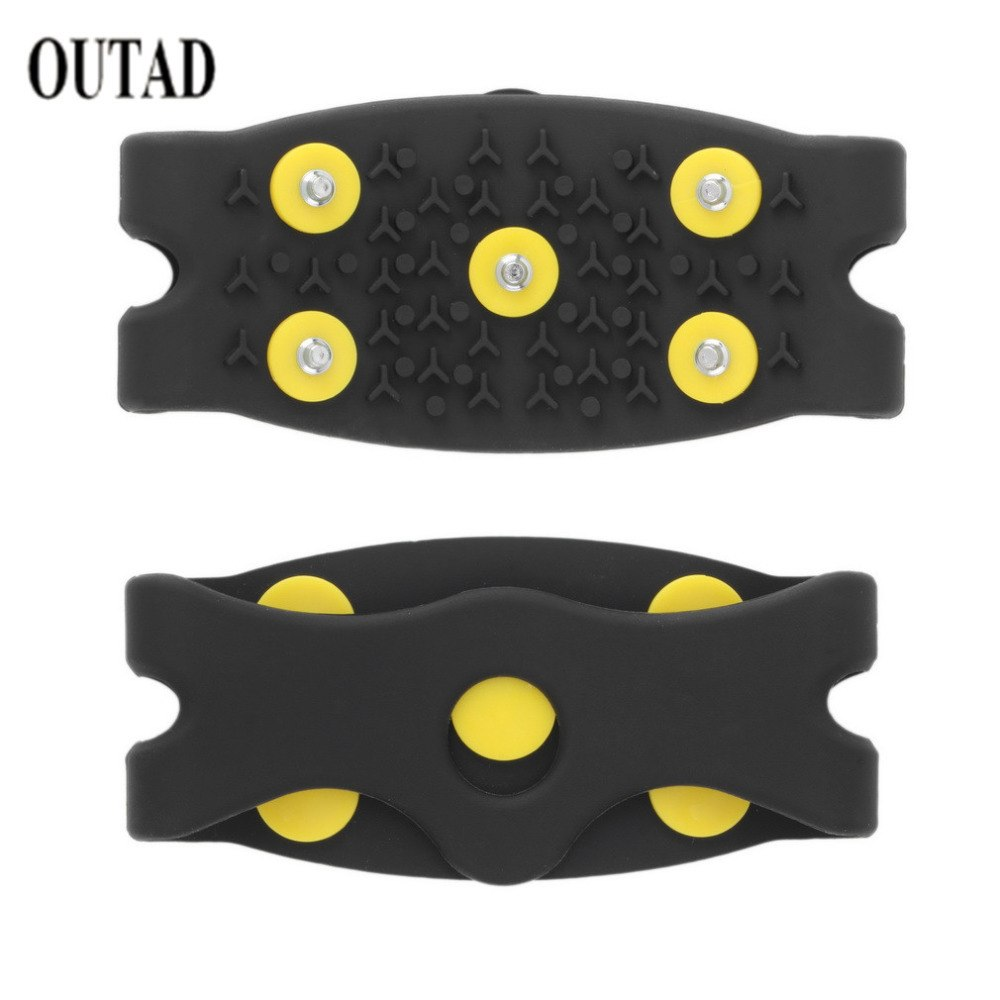New Arrival Anti Slip Snow Ice Climbing Spikes Grips Crampon Cleats 5-Stud Shoes Cover Dropshipping
