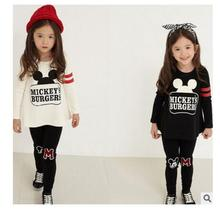 New autumn children's clothing sets baby girls boys cotton suits sets kids mouse cartoon sweatshirt+pant sets kids sports sets
