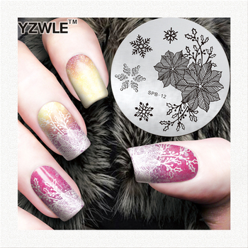 YZWLE best deal metal nail image templates for manicure salon image