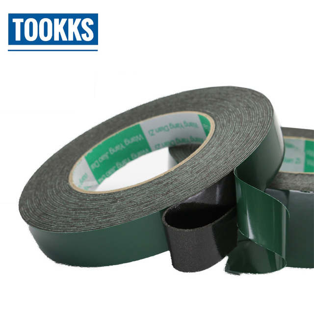 US $7 22 |30m Length Double sided Adhesive Foam Cotton Green Film Mobile  Phone Screen Repair Tape 1/2/3/4/5cm-in Tape from Home Improvement on