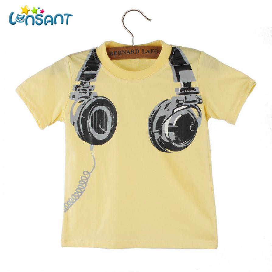 LONSANT High Quality Cotton Boy T-shirt 2018 Funny Baby Clothes Casual Short Sleeve Pasgeboren Baby Boy Kleding N30