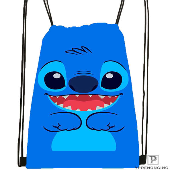 CustomLilo-Stitch-walt Drawstring Backpack Bag For Man Woman Cute Daypack Kids Satchel (Black Back) 31x40cm#20180611-03-139