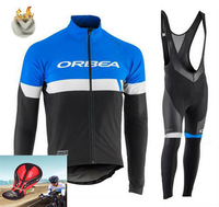 ORBEA Team Winter Thermal Fleece Quick Dry Cycling Jersey Set Outdoor Sport Coat Clothing Bib Suit
