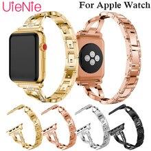 цена Trend strap For Apple Watch 40mm 44mm 38mm 42mm smart watch crystal band for Apple Watch series 4 3 2 1 iWatch bracelet онлайн в 2017 году