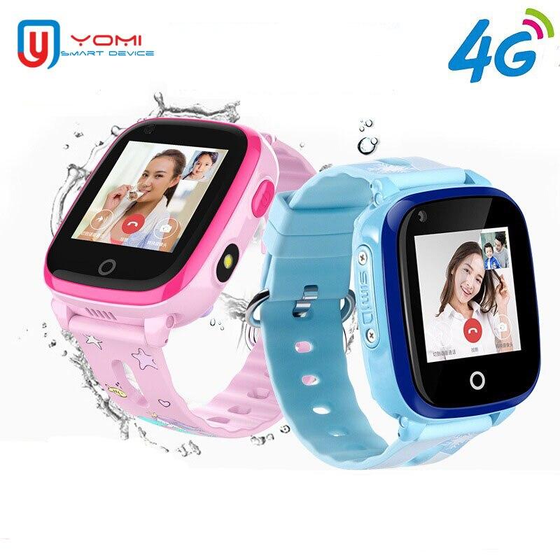 4G montre intelligente étanche montre intelligente pour enfant Android GPS WIFI Tracker appel vidéo caméra à distance bébé montre horloge de téléphone intelligent