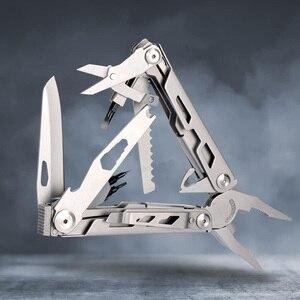 Image 2 - 2019 تصميم جديد متعدد أدوات ذو طيات سكين للفرد بقاء متعددة المهام في الهواء الطلق EDC والعتاد التخييم الصيد أداة الفولاذ المقاوم للصدأ