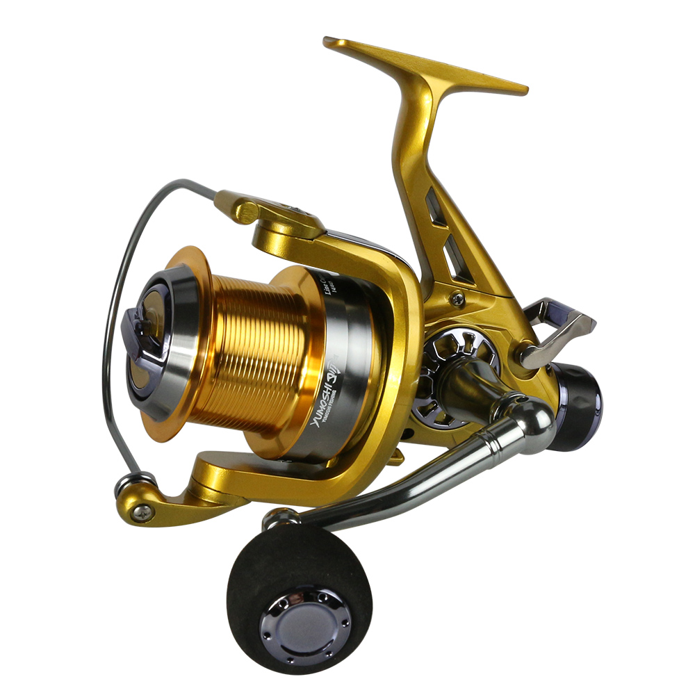 Left/Right Handle Metal Spool fishing reel Carp Spinning Fishing Reels 12+1BB Stainless steel Shaft Rear Drag Wheel sougayilang carp spinning fishing reels metal spool 9 1bb stainless steel shaft 10 20kg max drag super quality carp reel